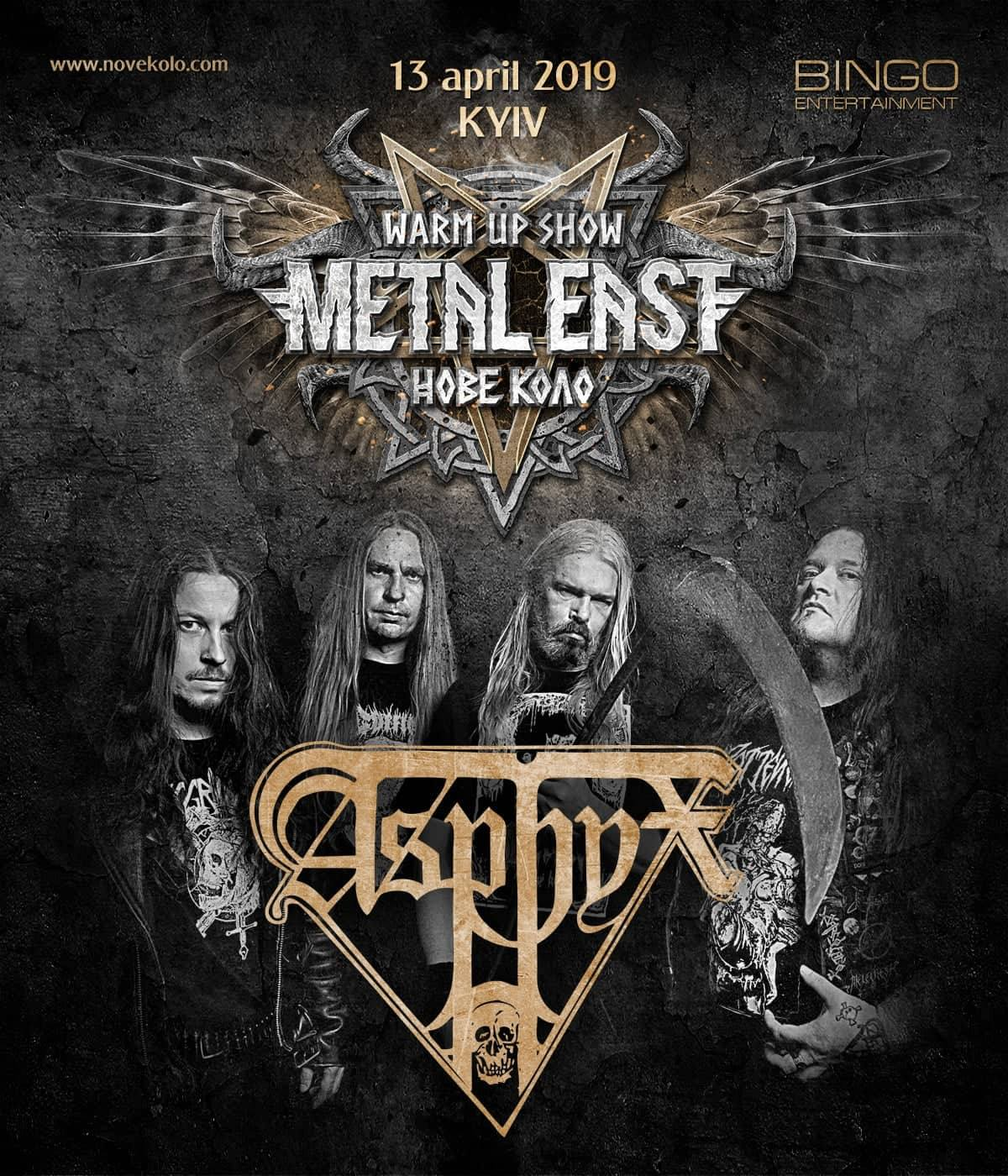 Second foreign headliner of the Metal East Nove Kolo warm-up party in Kyiv
