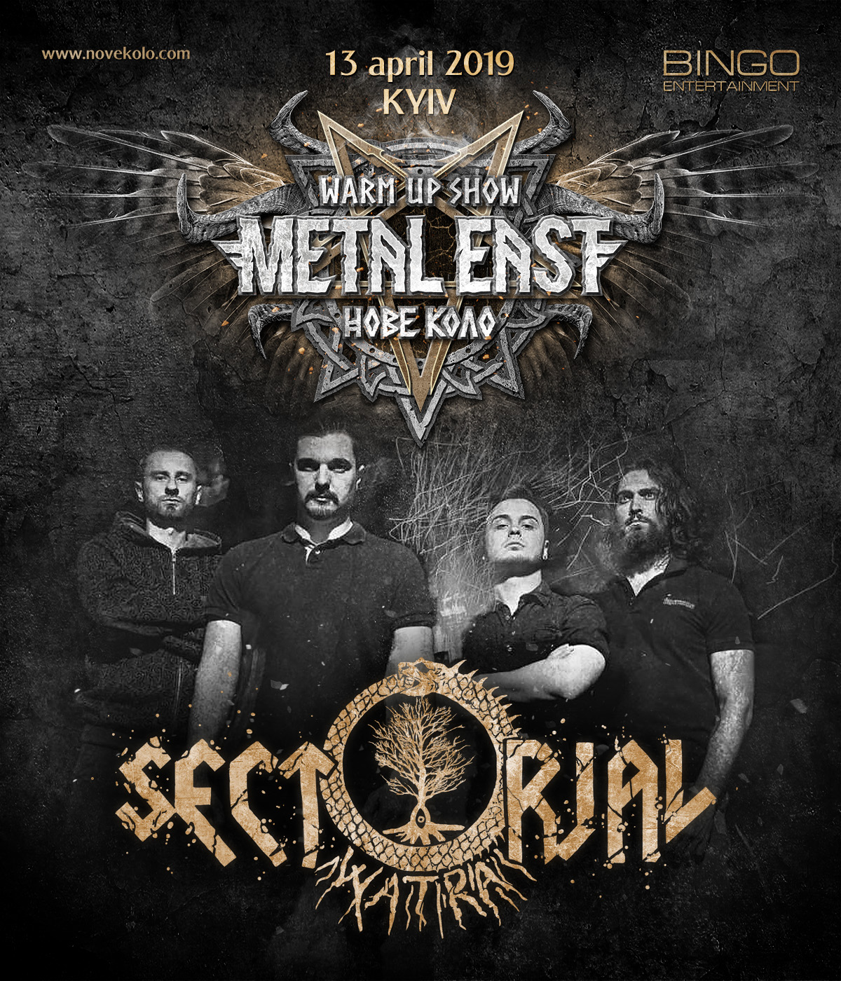 On April 13th of 2019 SECTORIAL will play at Metal East Nove Kolo warm-up show in Bingo club