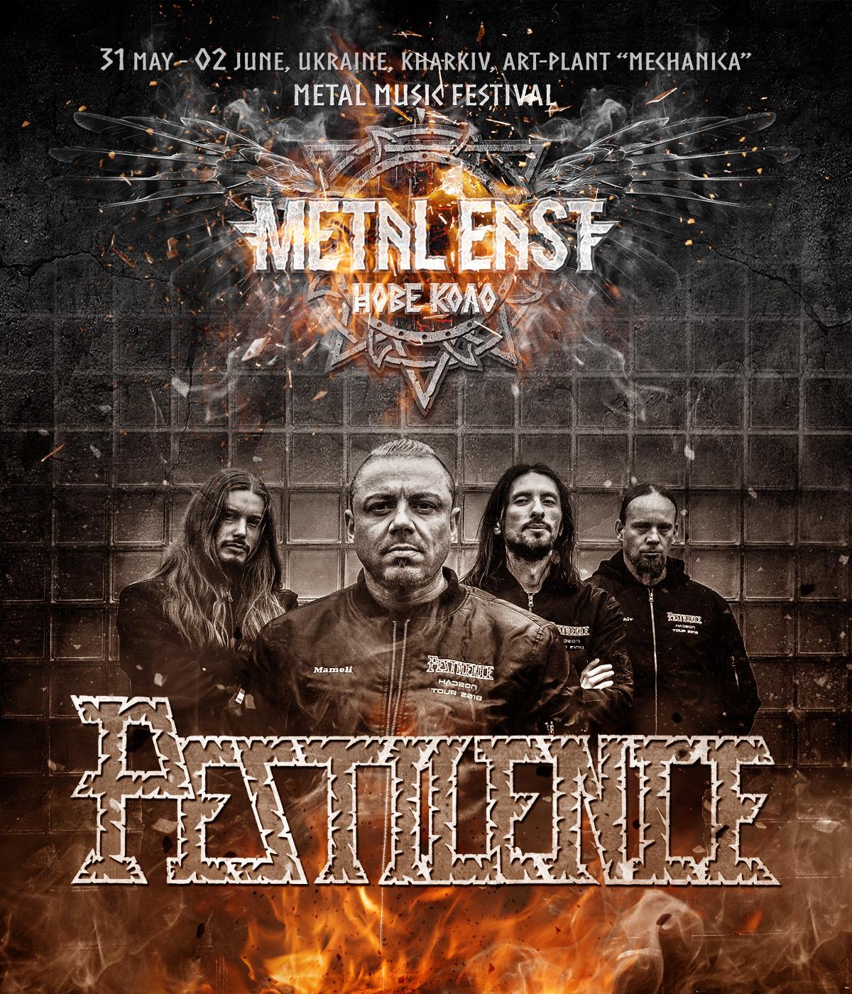 PESTILENCE – next band in festival line-up