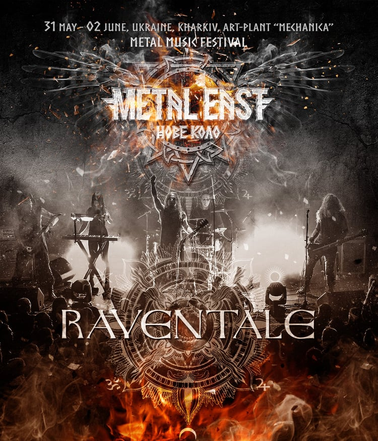 RAVENTALE will play for you at Metal East Nove Kolo festival in Kharkiv from May 31st to June 2nd of 2019
