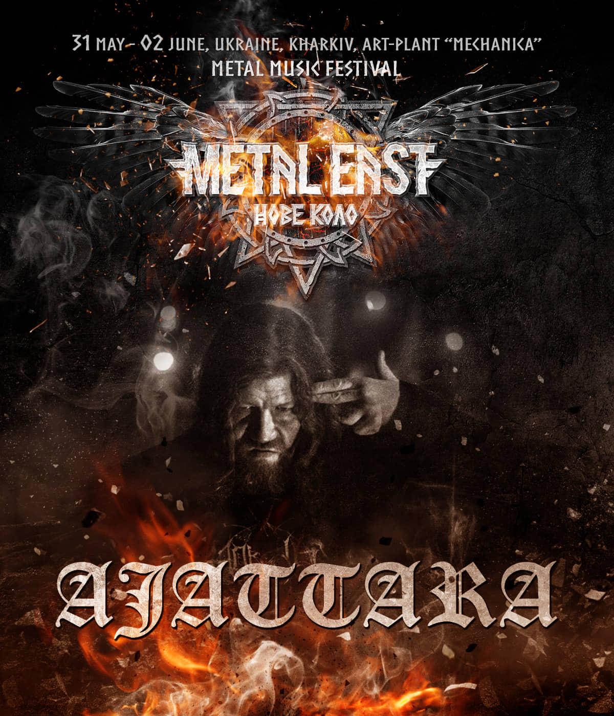 From May 31st to June 2nd of 2019 AJATTARA at Metal East Nove Kolo festival in Kharkiv, Ukraine.
