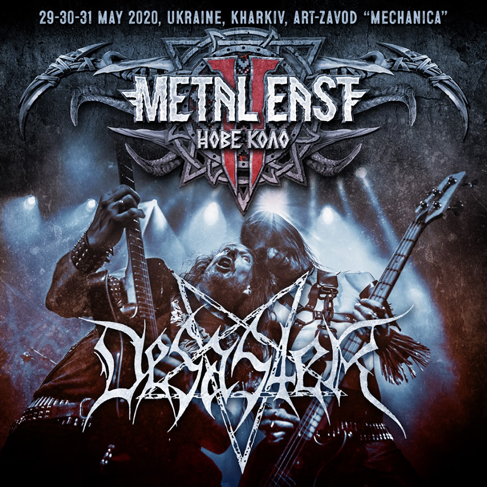 Metal East: Нове Коло 2020 festival welcomes DESASTER to Kharkiv from May 29th to May 31st